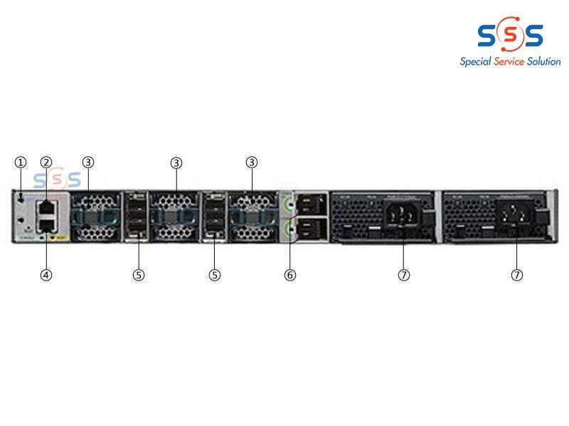Thiết bị chuyển mạch Switch CISCO WS-C3850-24XU-L   Image 3