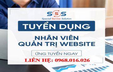 CÔNG TY CỔ PHẦN SSS TUYỂN DỤNG THÁNG 11_NHÂN VIÊN QUẢN TRỊ WEBSITE